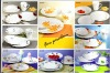 30pcs round porcelain dinner sets with fresh decal