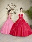 Customer Made Fresh Color Strapless Ball Gown Quinceanera Dress Patterns QV-081