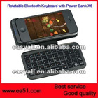 Rotatable Bluetooth Keyboard with Power Case Apply for iphone X6