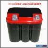 Red color 12V lead acid battery for motorcycle