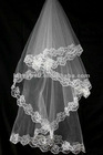 2012 New Unique One-layer Lace Edge Wedding Veils