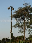 15m golf course lighting telescopic mast towr and light poles