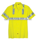 Men's Hi-visibality Industrial workwear safety shirt/working protective shirt