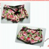 ladies colorful flowers short pants