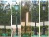 cast iron/aluminum antique garden lamp poles