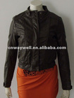 Ladies classical sexy standing collar PU fake leather Jacket / top