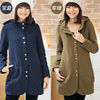 latest plus size women wool fashion coat