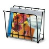 Metal wire magazine rack black