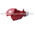 plastic socket,plug,(Earth contaction position 6H,5poles,16A,32A,IP44)