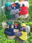 plush plastic Koala clip