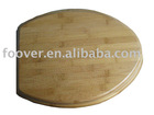 Bamboo toilet seat cover