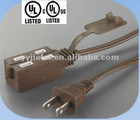 Socket-JF-2/JF-2CZ UL extension cords,13A,250V,SPT-2 16AWG*2C