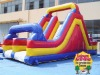 inflatable slide and bouncer rock obstacles course