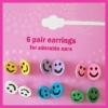 Fashion Cute colourful Earrings New arrival metal earrings,stud multi pack