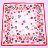 Nice candy pattern printed twill silk scarf