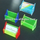 color acrylic name card holder