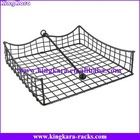 KingKara Iron Steel Wire Toilet Paper Holder with magazine rack