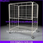 KingKara KAHT04 Mesh Wire Cage Trolley