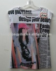 2011 latest design lady t-shirt