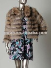YR-001 new style Natural color raccoon dog fur jacket