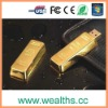 Popular gold usb flash drive