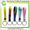 Silicone rubber wristband keychains