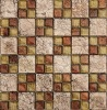 glass mosaic mixed color with stone