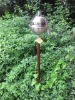 Stainless Steel oil Lamp With Wooden Post