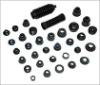 standard size black rubber automobile wheel hub cover