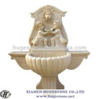 Tiwns Angel, Beige marble fountain, Stone Garden Products
