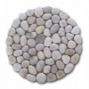 white cobble stones