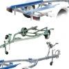FRP Boat Trailer,RIB boat trailer,poly plant boat trailer