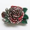Belt Buckle (Western Rose Flower Belt Buckle)