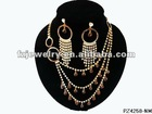 Crystal Beads indian cubic zirconia jewelry necklace set