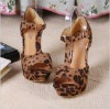 popular! fashion sexy elegant dew toes highheels leopard