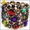 Fancy Acrylic Bead Stone & Alloy Flower Bracelet