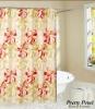 polycotton TC printed fabric shower curtain