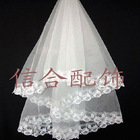 2011 Hottest Embroidered White Lace Wedding Veils