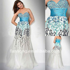 Luxury colorful sequined sweetheart neckline sheath evening wear