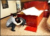quake-proof wooden bed