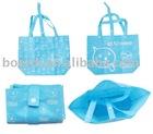 foldable Rpet bag Blue shopping bag B-11