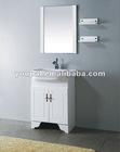 floor bathroom vanity, vitreous basin , PVC cabinet with soft landing feet