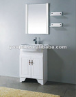 floor bathroom vanity, vitreous basin , PVC cabinet with soft landing feet