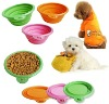 silicone foldable pet feeder /bowl