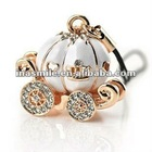 Fashion Rhinestone Pumpkin Car Mobile Phone Chain