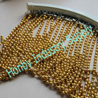 8mm bead diameter bright gold plated hanging wall dividers