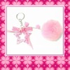 Pink Plush ball Keychain For Girl's