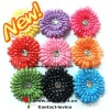 "4"" polka dots gerbera daisy flower 4inch ."