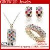 Wholesale latest fashion peacock jewelry set