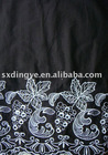 10DY10468 emboridery on cotton voile fabric